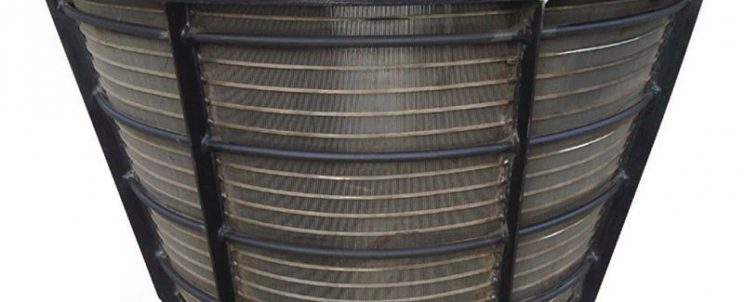 stainless steel centrifuge wedge wire basket