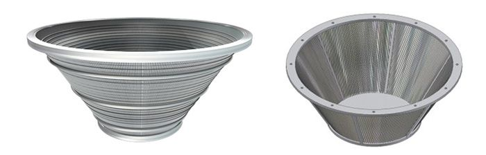 stainless steel profile screen basket